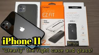 "iPhone 11 - ""Clearly"" the right case and tempered glass from Spigen!"