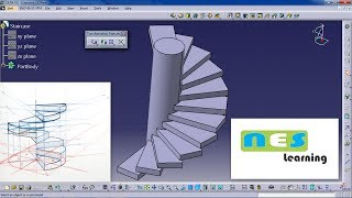 CATIA V5/V6 Tutorial | staircase design Step by step *NEW WAY*