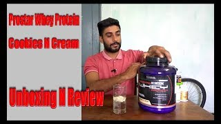 Buying Online Prostar Whey Protein Cookies N Cream Flavour Unboxing N Review