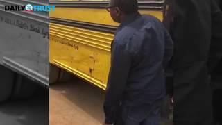 Dangote, Otedola take Bus ride with Lagos Gov Ambode & Otedola''s ''Molue'' escapade