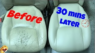 How To Repair The NASTIEST Leather & Vinyl....Back To PERFECT!