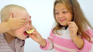 Видео для детей. Игра Угадайка: вкус еды!