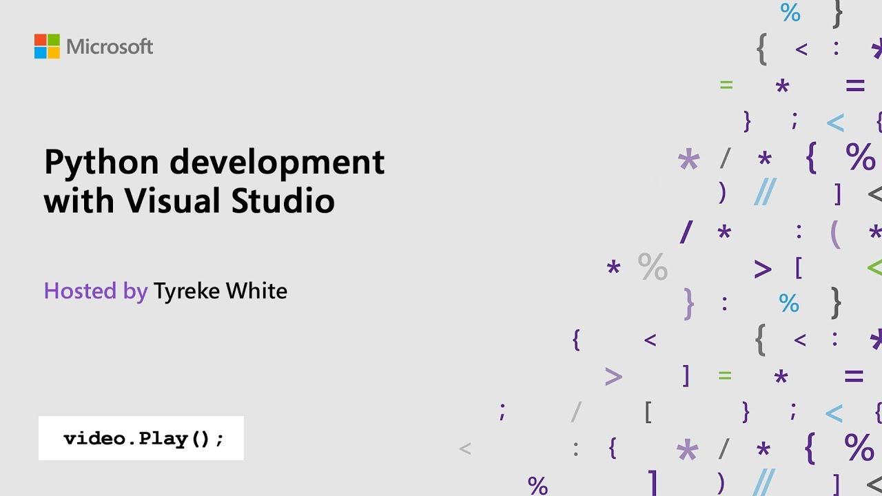Video of Python development with Visual Studio screenshot