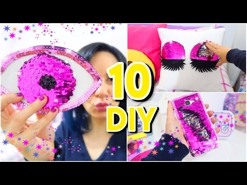 10 DIYs Amazing VIRAL Color Changing! DIY Mermaid Sequin crafts