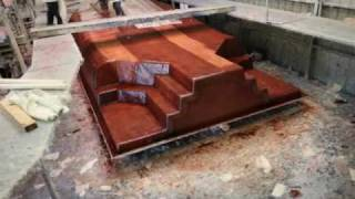 Time Lapse construction of the highest quality fiberglass pool available, a San Juan Pool