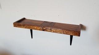 Non-Floating Pallet Wood Shelves