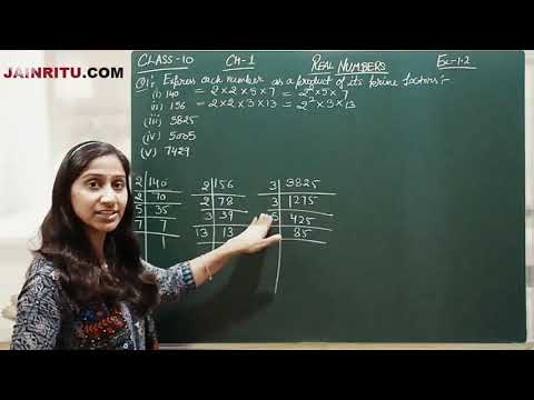 Q1 EXERCISE 1.2 : CHAPTER 1 REAL NUMBERS : MATHS CLASS 10 RITU JAIN
