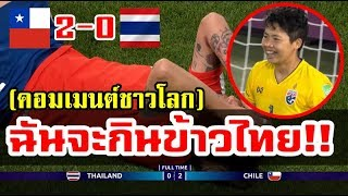 คอมเมนต์ชาวโลกหลังไทยแพ้ชิลี 0-2 ศึกฟุตบอลหญิงแชมป์โลก 2019