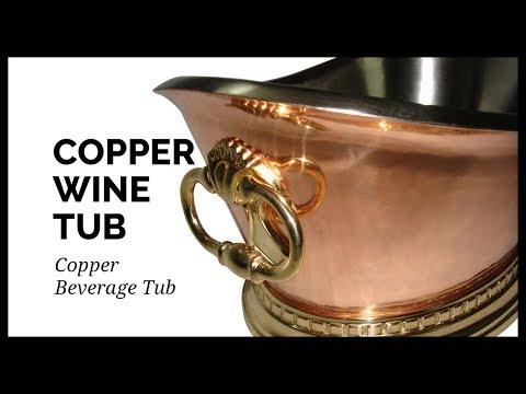Copper Tub   Copper Beverage Tub   Copper Wine Tub