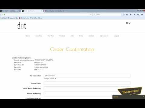 Video Cara Konfirmasi Pembayaran via Transfer