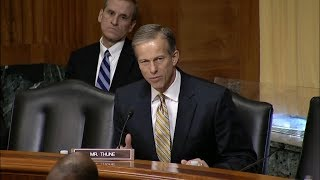 Thune Directs Questions Toward U.S. Trade Representative Lighthizer in Finance Committee Hearing