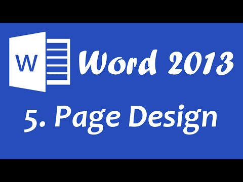 Microsoft Word 2013 – Page Design tutorial