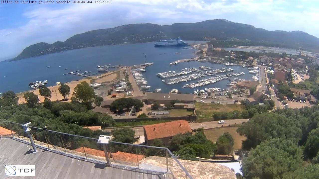 Webcam panoramique en Corse du Sud en direct de Porto Vecchio