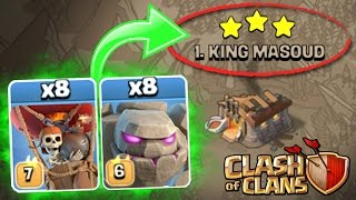 Clash Of Clans  NEW UPDATE TROOPS Vs TOP PLAYER IN WAR  SURPRISING OUTCOME