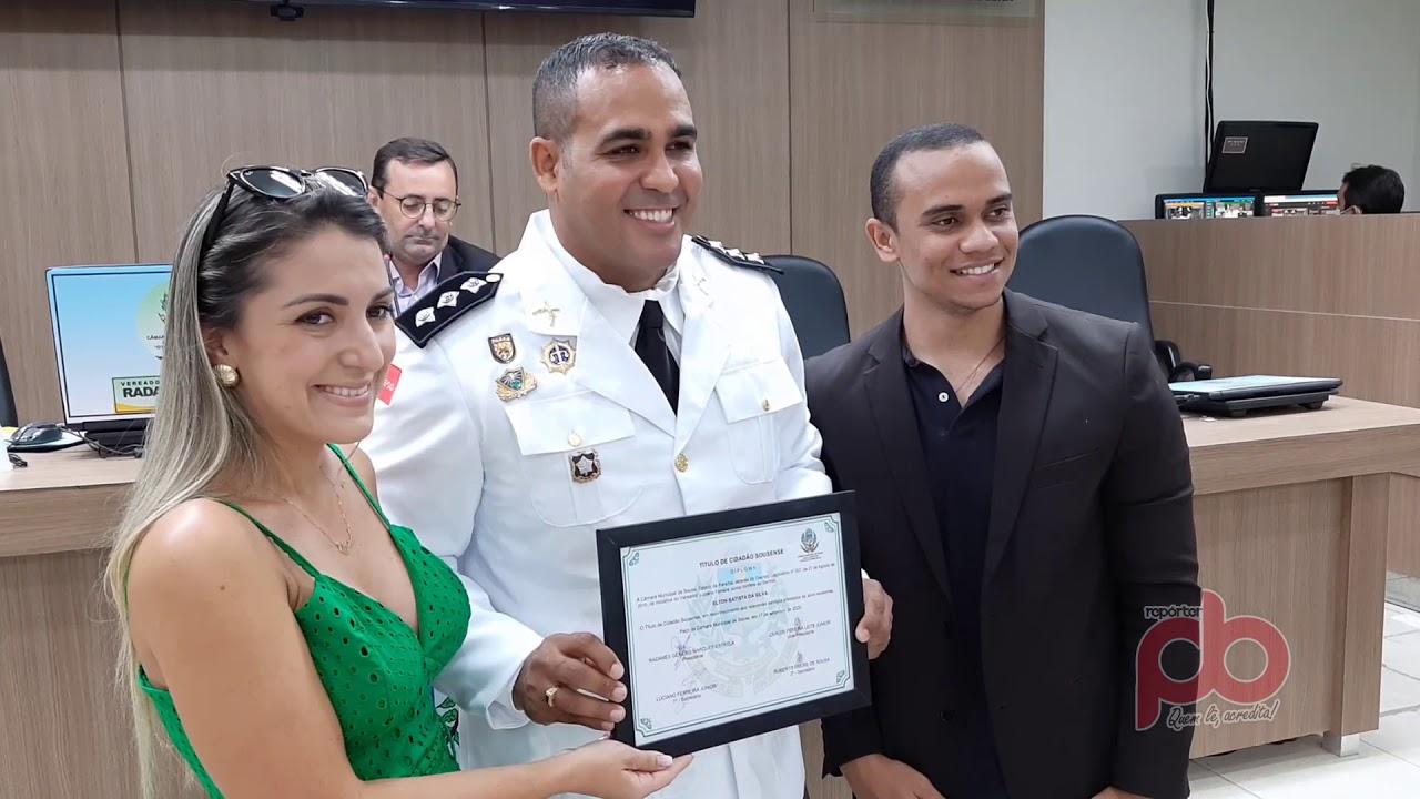 Capitão Helton recebe Título de Cidadão Sousense