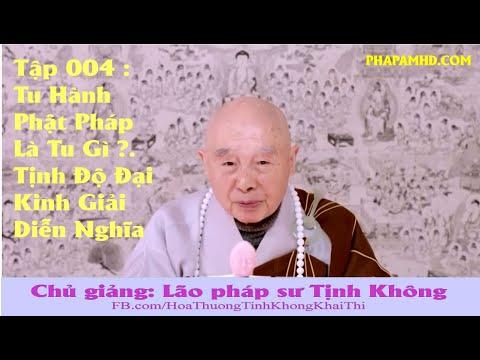 Tập 004, Tu Hành Phật Pháp Là Tu Gì ? - Tịnh Độ Đại Kinh Giải Diễn Nghĩa, lần thứ 11, 2010