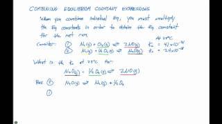 15.3 Combining Equilibrium Constants