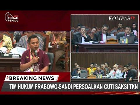Tim Hukum Prabowo-Sandi Persoalkan Cuti Saksi 01