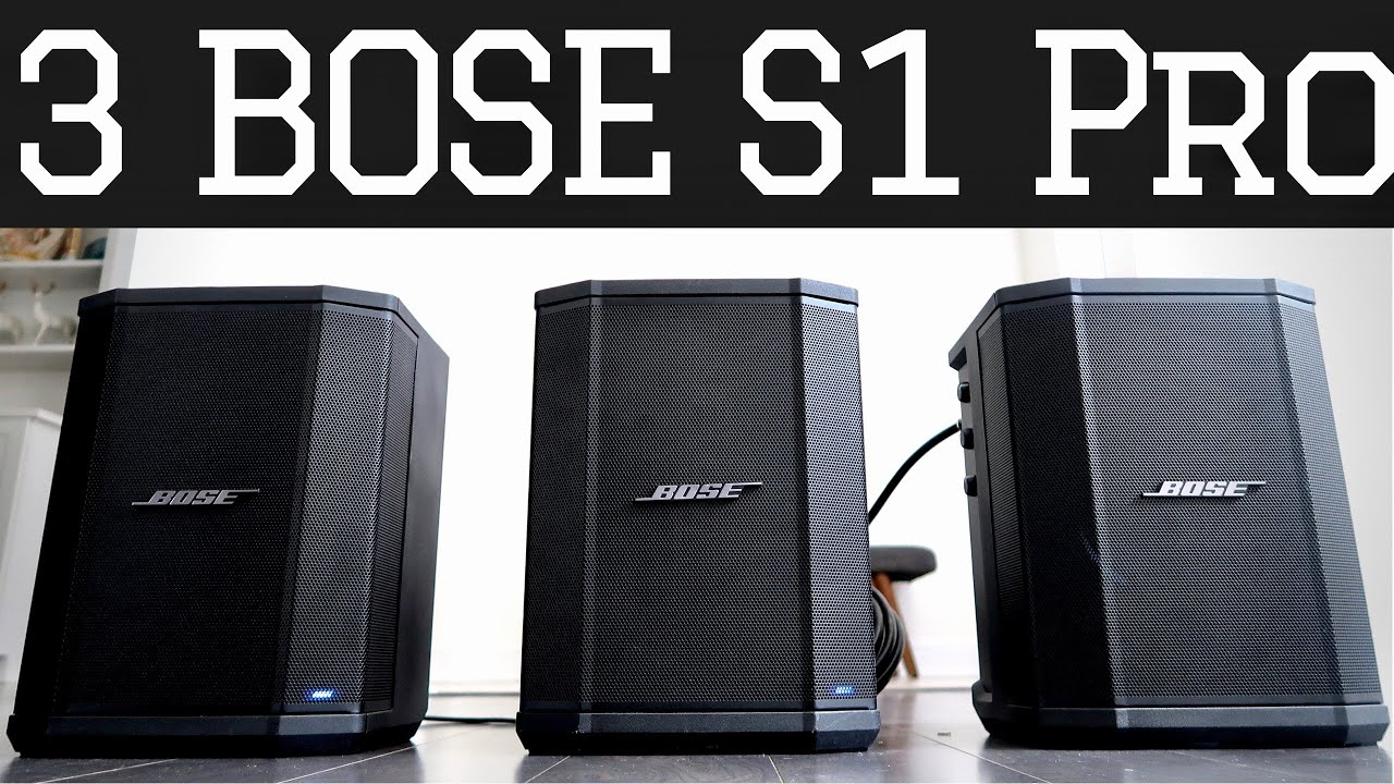 Three Bose S1 Pro - Audio Sound Test Demo & Set Up - YouTube