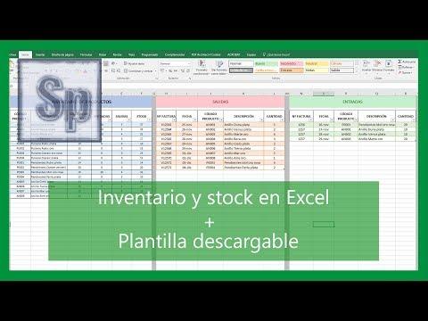 Excel - Cómo hacer inventario y control de stock. Entradas y salidas. Tutorial en español HD