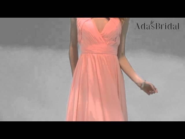Chiffon Jewel Neckline Full-length A-line Evening Dress - Adasbridal (SOD44910)
