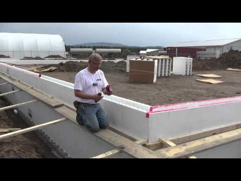 Fox Blocks Whitecourt Shop part 1 Stem Walls Insulated Concrete Forms