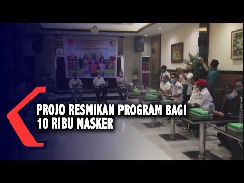 projo resmikan program bagi ribu masker