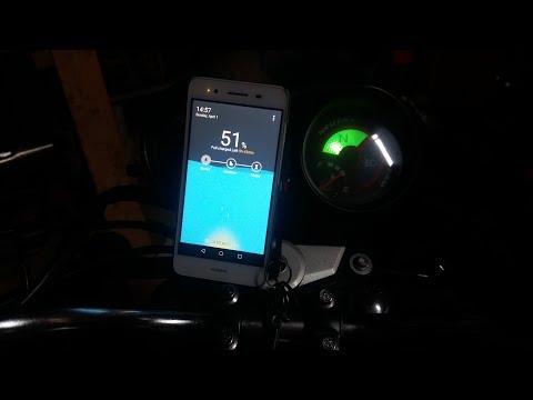 Зарядка телефона от мотоцикла (лайфхак)