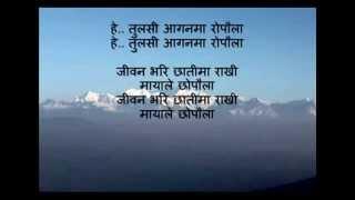 "Nepali music track "" tulshi aaganma ropaunla"""