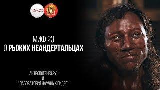 Александр Соколов. Миф о рыжих неандертальцах