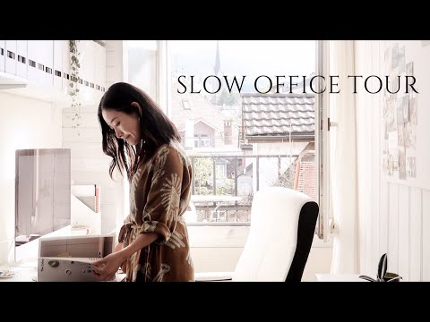 Slow Office Tour   Small Home Office Makeover