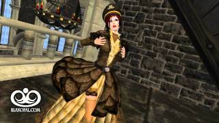 BlakOpal Steampunk Lady Aviator Outfit (brown) in motion