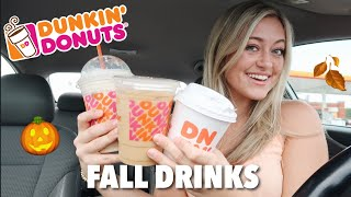 Trying the new FALL Dunkin Donuts Menu Items | 2020
