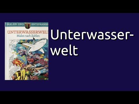 Coloring Book Flip Through: Unterwasserwelt Malen nach Zahlen