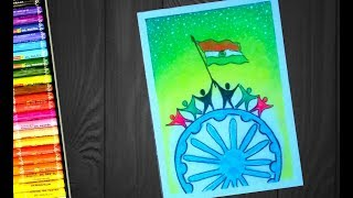 How to draw poster on UNITY IN DIVERSITY IN INDIA !! for kids and beginners