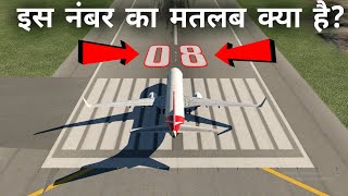 What are the numbers on airport runways?