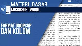 Format Drop Cap Dan Kolom