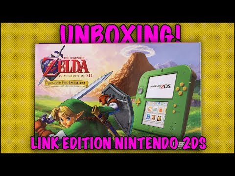 UNBOXING! Nintendo 2DS Link Edition - The Legend of Zelda Ocarina of Time