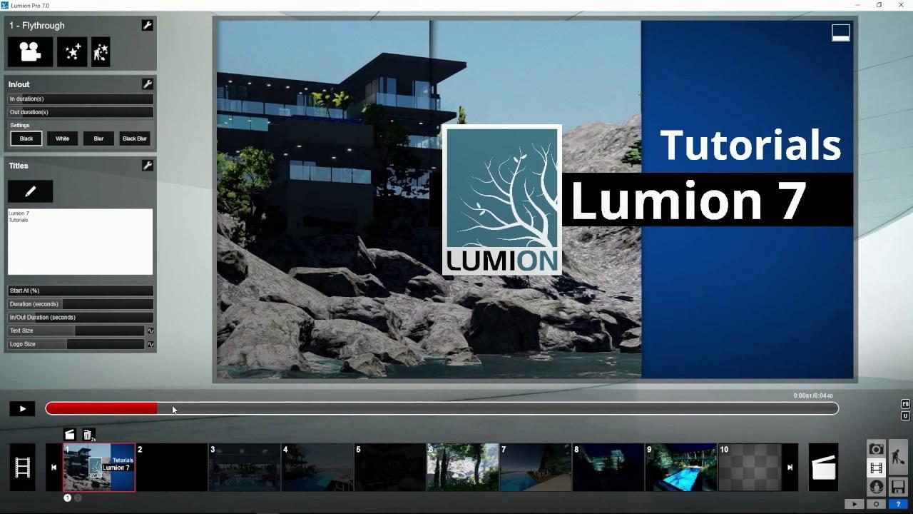 エフェクト:タイトルースタイル変更(Lumion7 series)