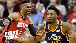 First Take debates Jazz vs. Rockets as the biggest wild card in the West | First Take