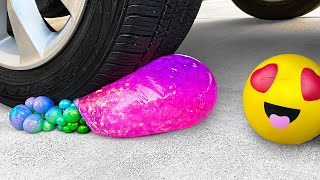 Crushing Crunchy & Soft Things by Car! - Floral Foam, Squishy, Eggs and More!