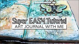 Super Easy ART JOURNAL Tutorial (new 2018) ✩ ShiraStudio