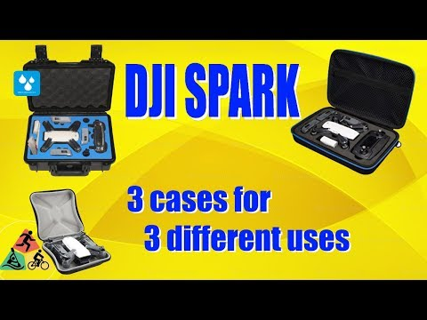 Protective cases for your DJI Spark - 3 different types for 3 different roles