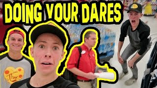 DOING YOUR DARES IN TARGET! (KICKED OUT)