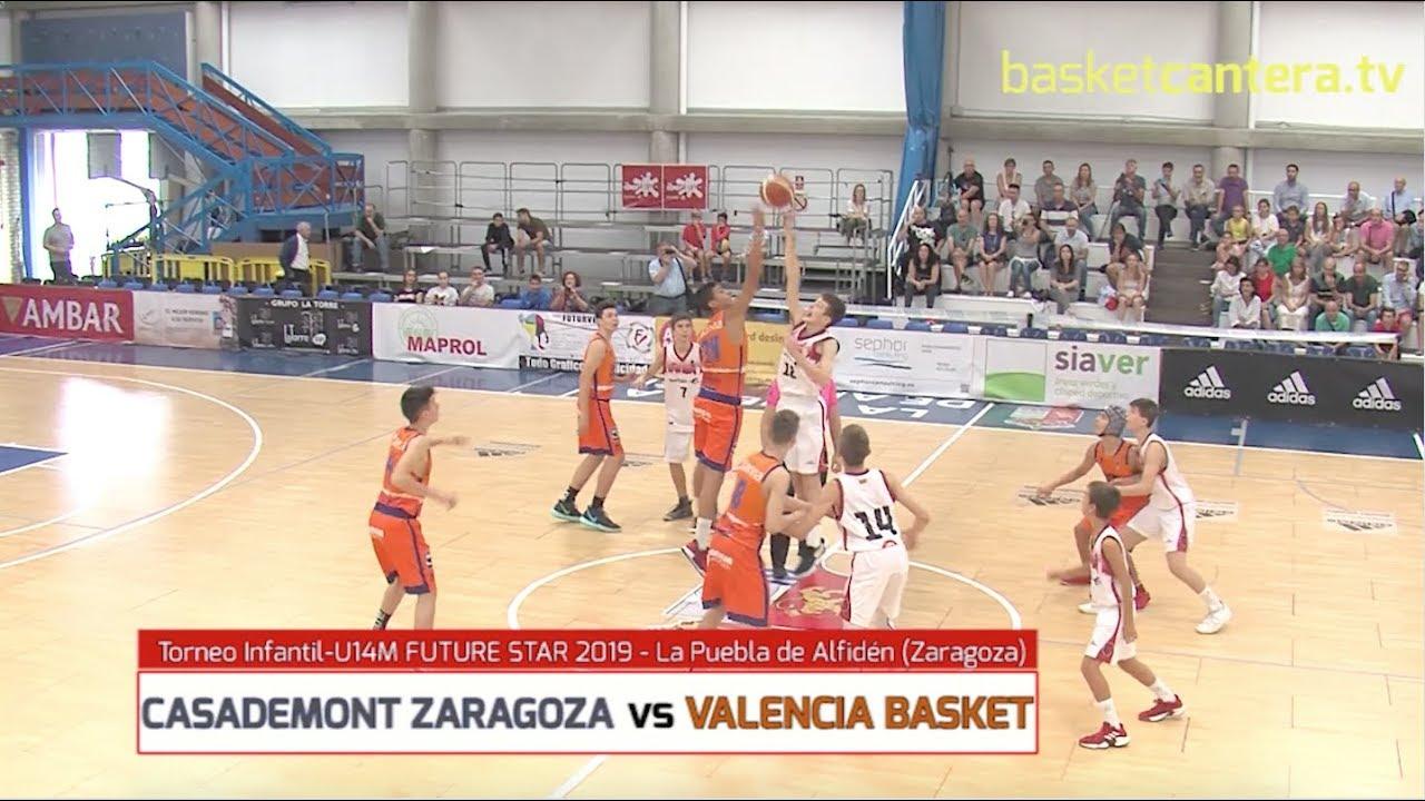 U14M - ZARAGOZA BASKET vs VALENCIA BASKET.- Torneo Infantil FUTURE STAR La Puebla de Alfindén 2019.