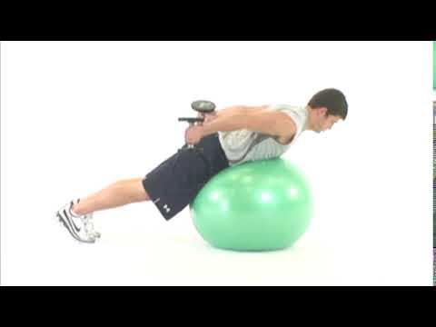 Ball Dumbbell Kickback