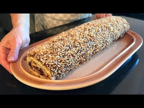 ROTOLO ALLA NUTELLA GOLOSO - Ricetta Facile | NUTELLA SWISS ROLL - Easy recipe