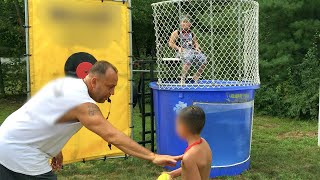 Screaming Kids Dunk A Kid In The Tank Girls Vs. Boys Challenge Vote Who Is Better