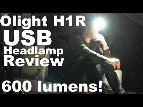 Olight H1R Headlamp Review.  A Rugged new USB rechargeable flashlight for 2017