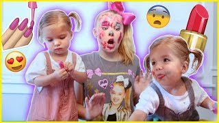 TWIN BABIES GIVE ME A MAKEOVER...((BAD IDEA))